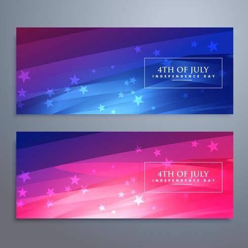 beautiful 4th of july american banners and headers
