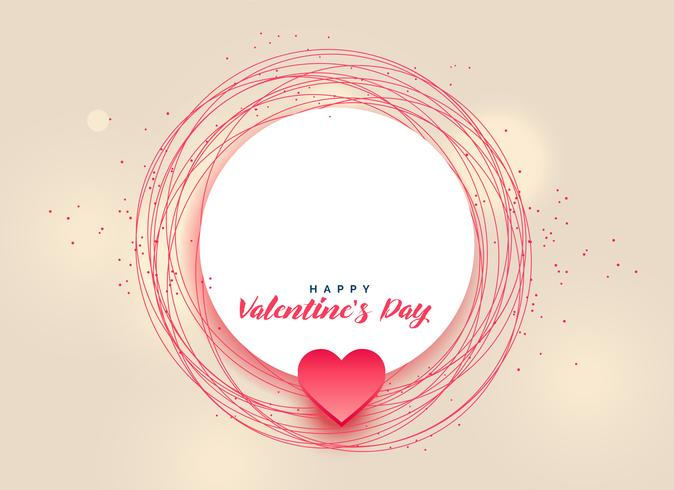 happy valentine's day design with text space