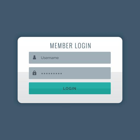 modern login user interface design template