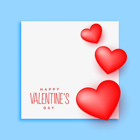 nice valentine's day poster design with text space