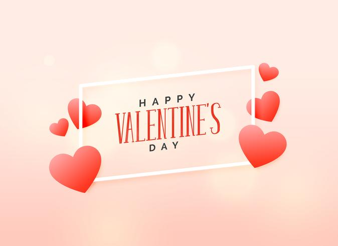soft valentine's day love background design