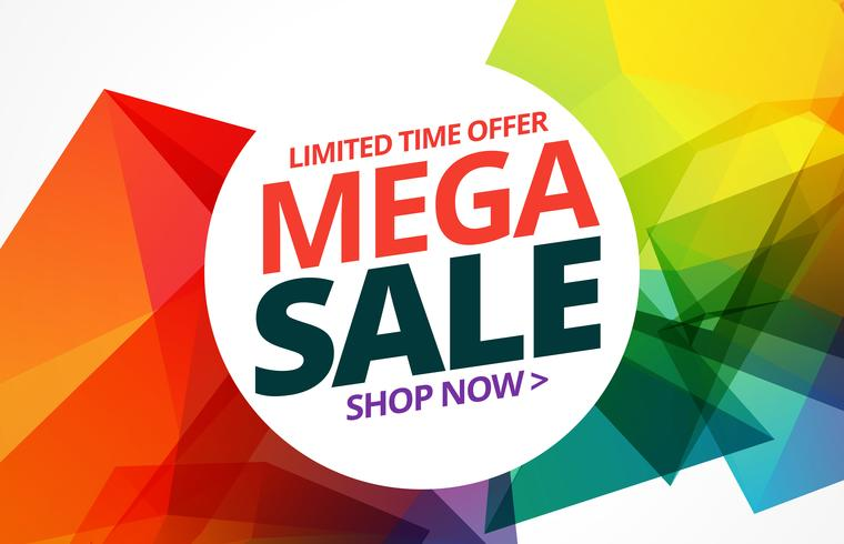 awsome colorful sale banner design with offer details