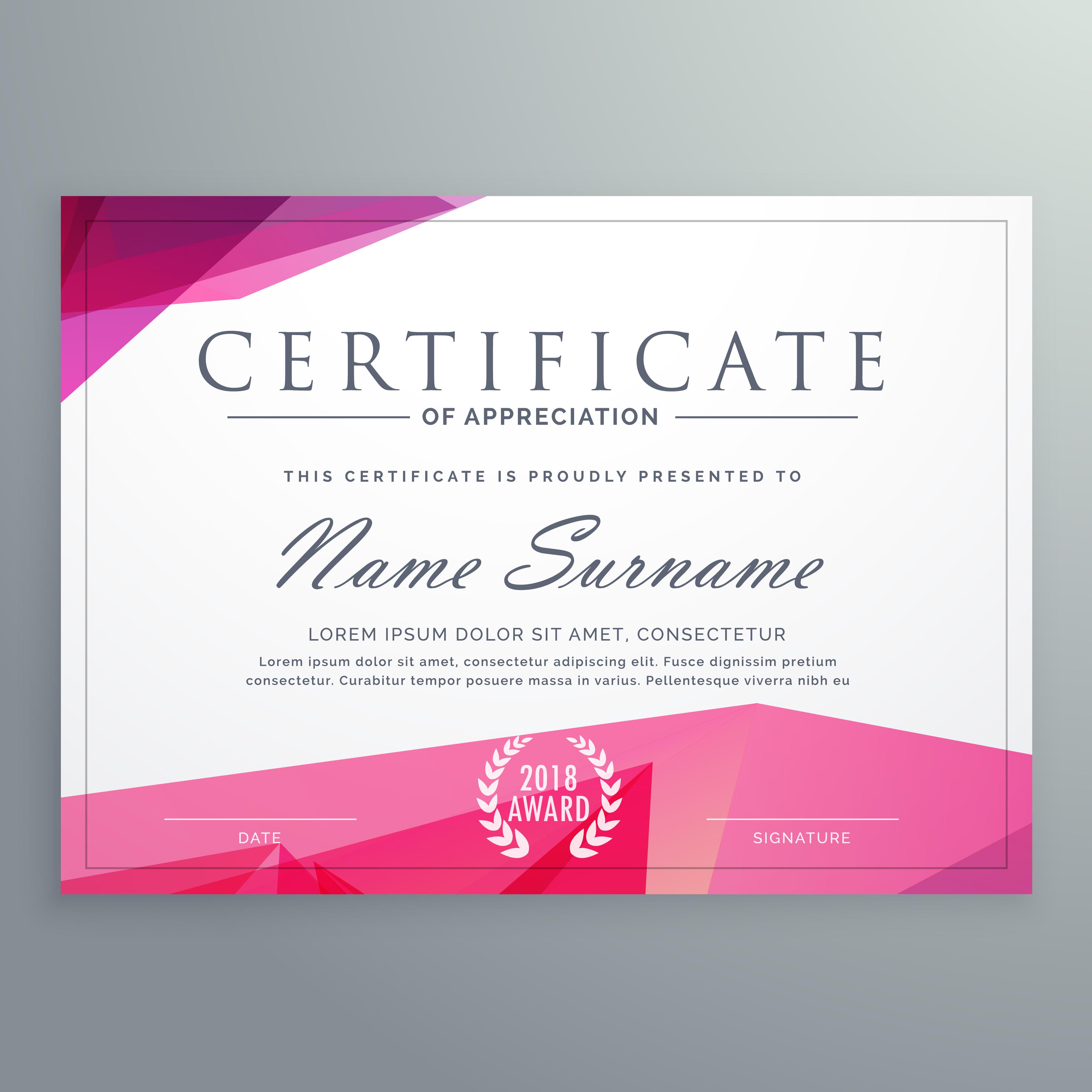 Modern Certificate Of Appreciation Creative Template