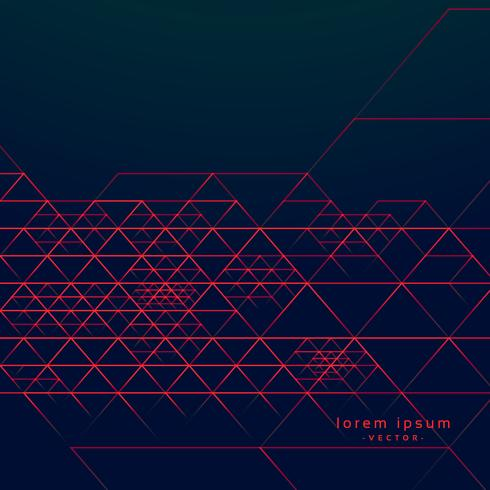abstract geometric triangle lines on dark background