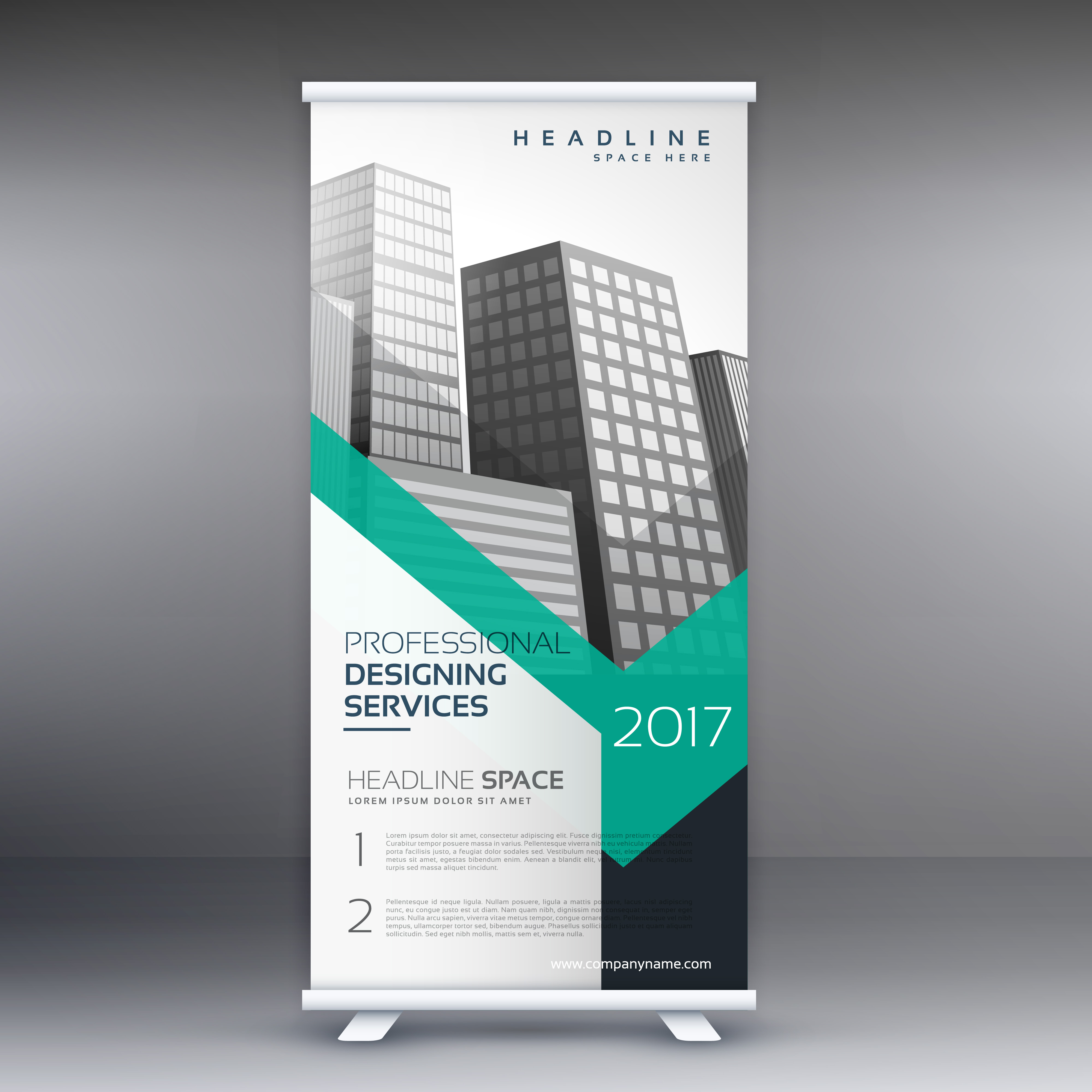 business presentation roll up banner standee template