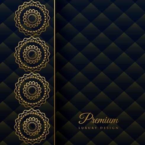 dekorativer Luxusdekorationshintergrund der Mandala