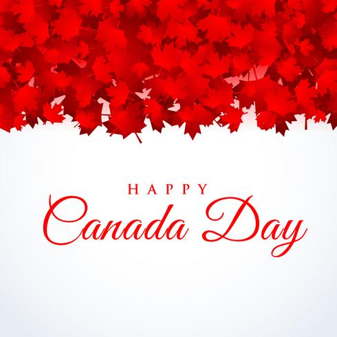 canada day background with maple leafs