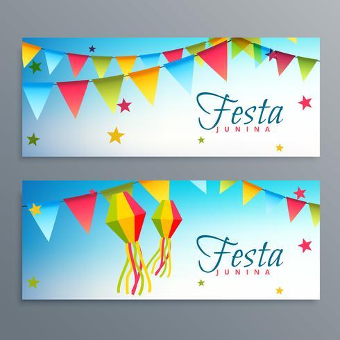 festa junina bannières du festival brésil