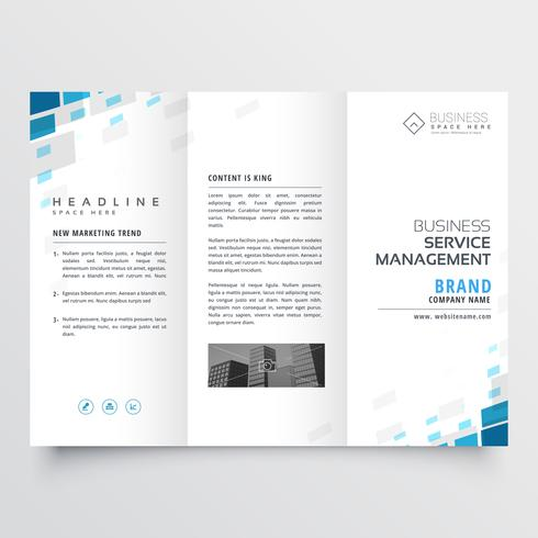 simple trifold business brochure template design