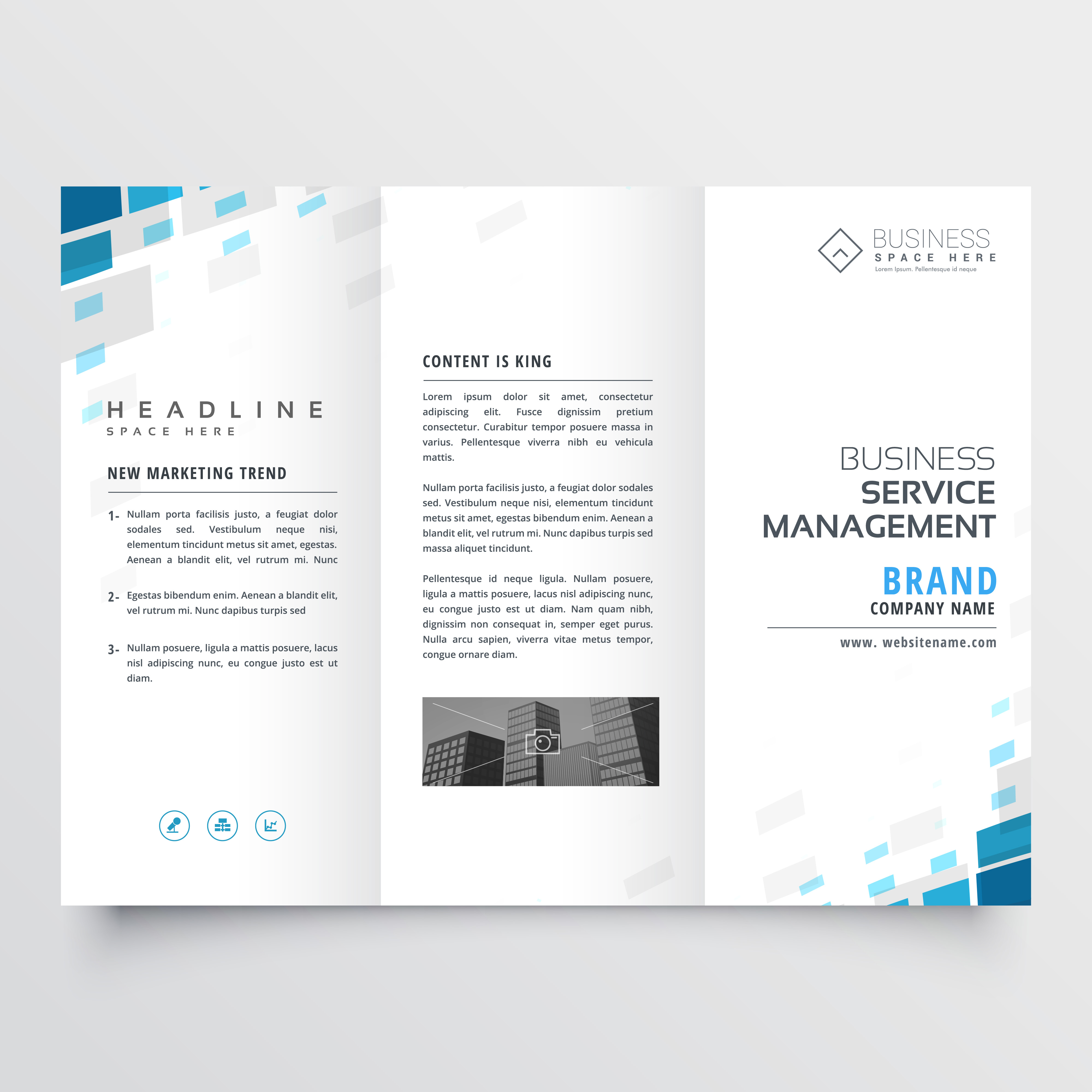 Simple Trifold Business Brochure Template Design Download Free