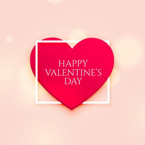 3d red heart lovely valentine's day background