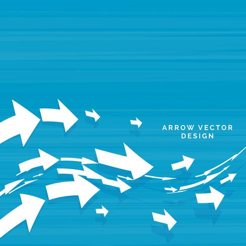 wavy arrows moving forward concept design