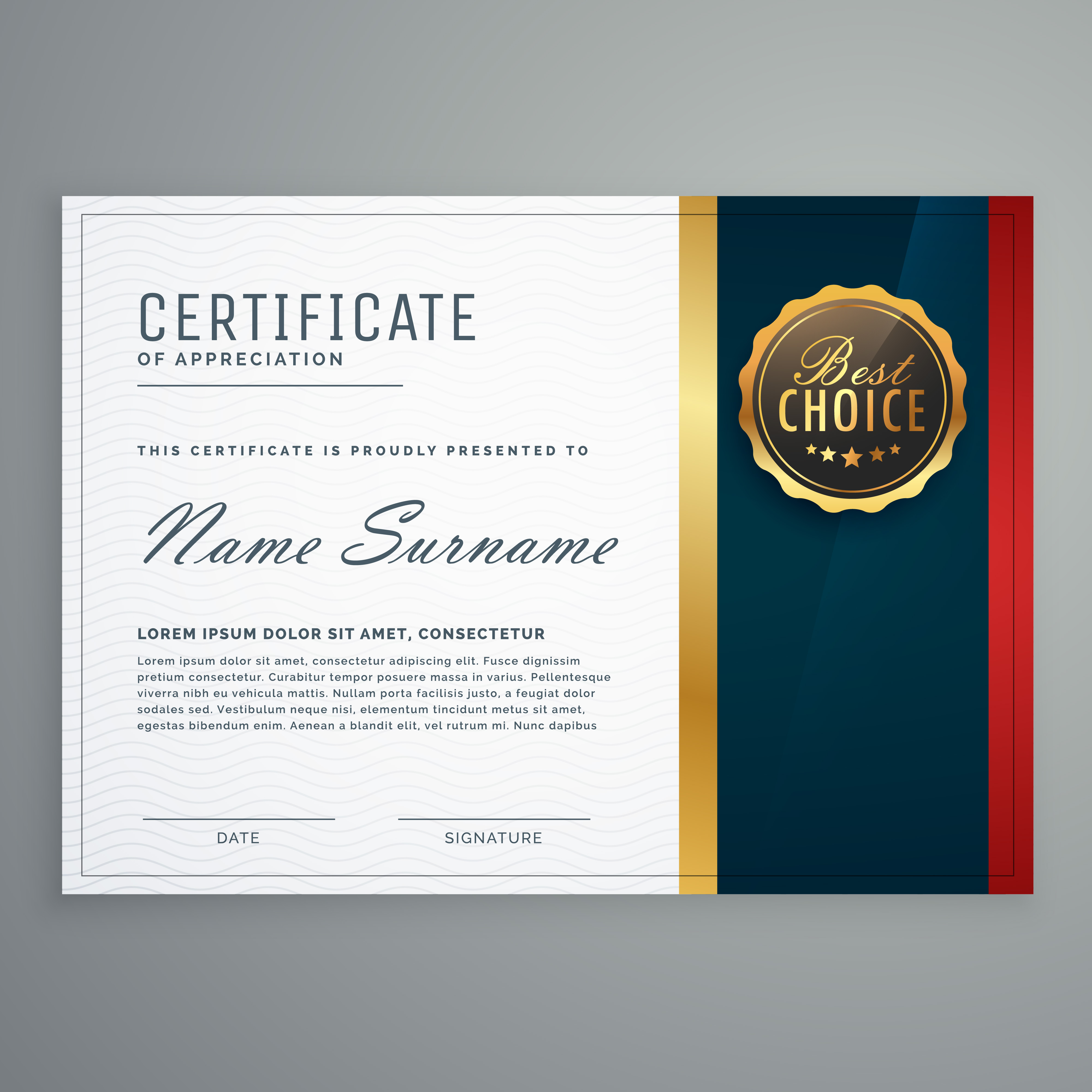 premium style modern certificate template design ...