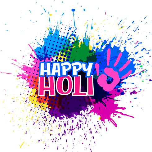 colorful splashes for happy holi festival