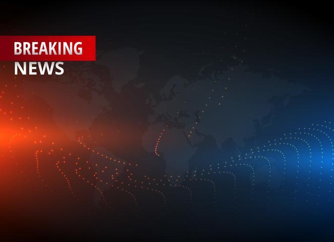 Breaking News Konzept Design Grafik für TV-Nachrichtensender