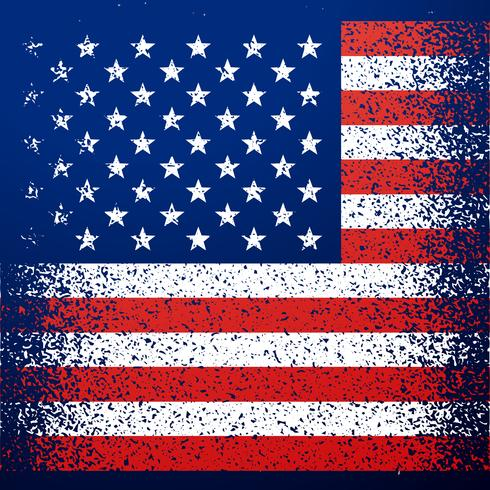 grunge textured american flag background