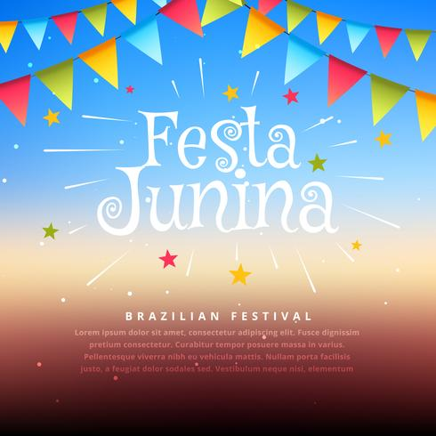brazil festival festa junina illustration