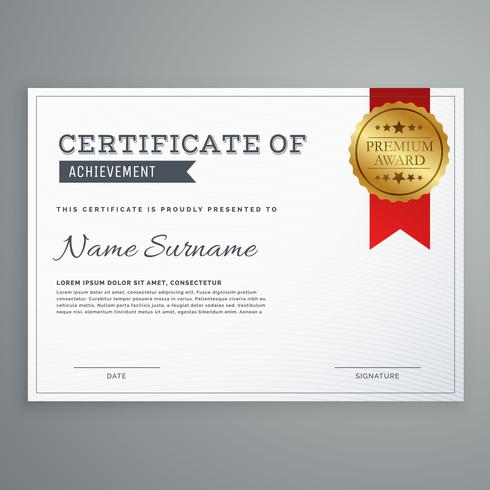 modèle de certificat horizontal simple et élégant