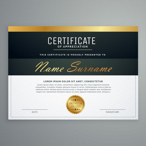 premium certificate design. diploma award vector template