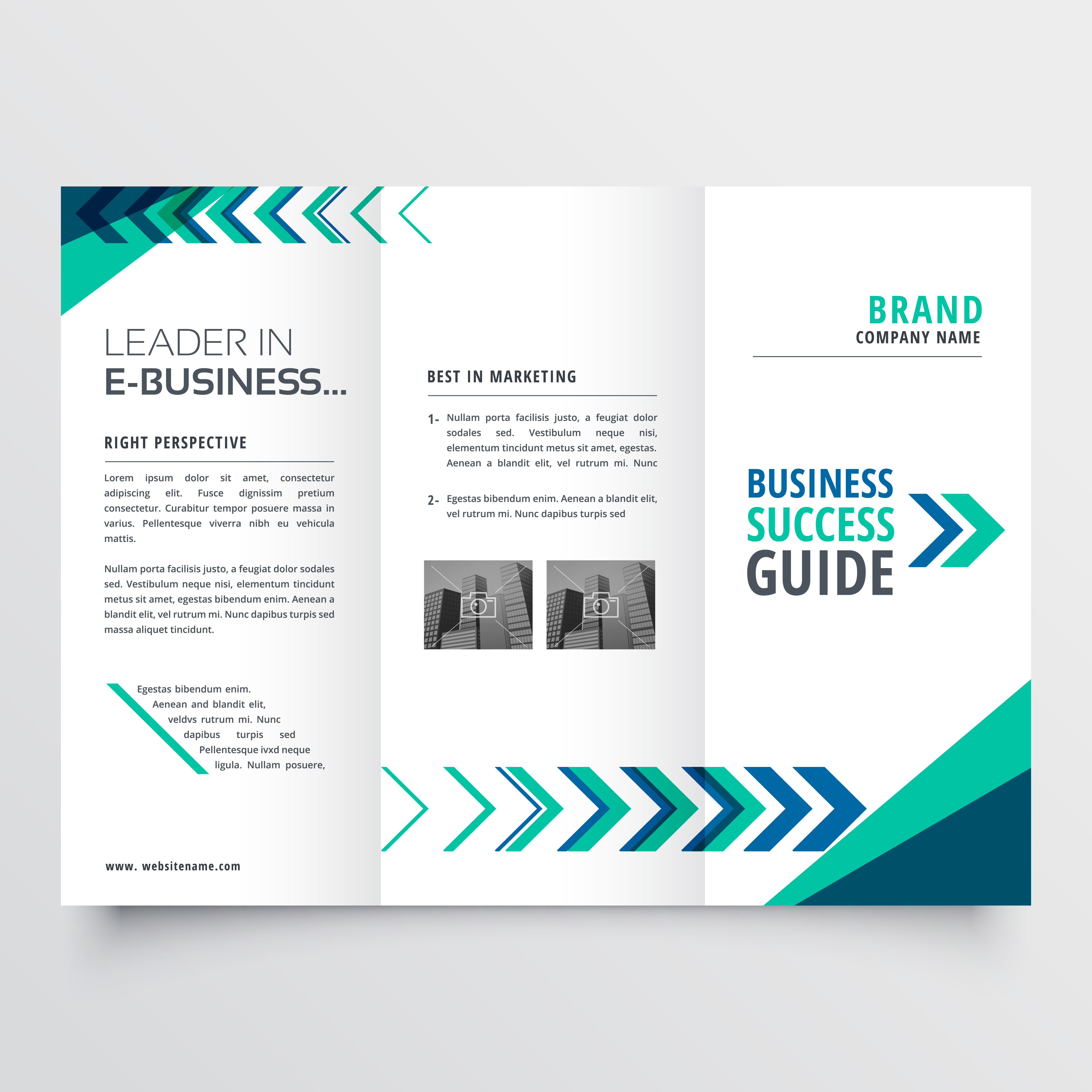 abstract business trifold vector free download