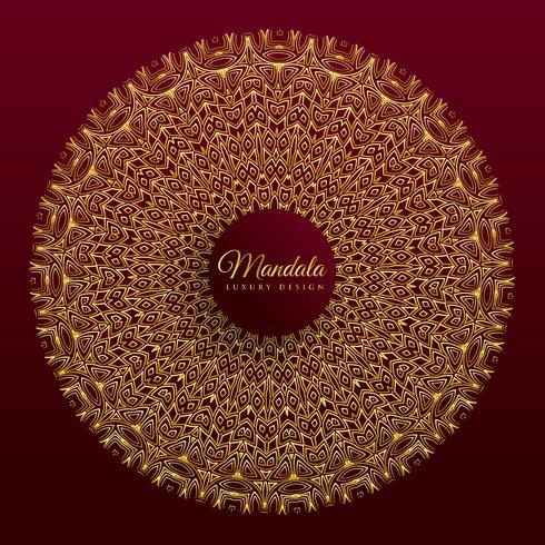 conception de bannière de vecteur mandala de luxe