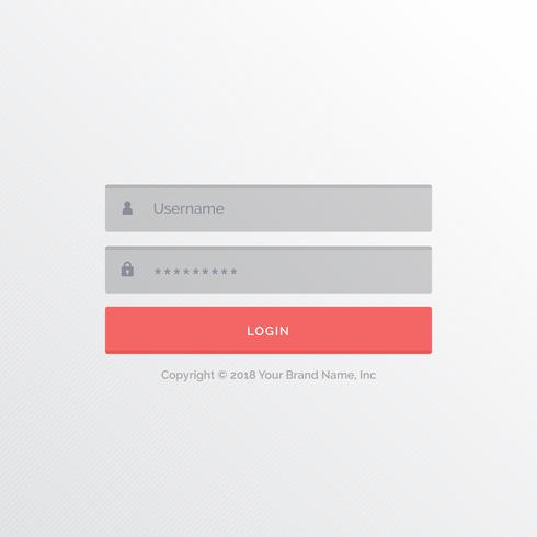 white light ui design for login form