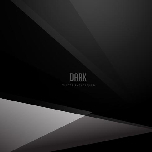 black dark background with geometric gray shape