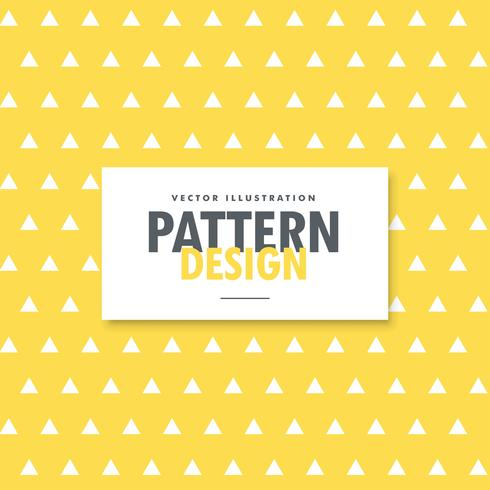 triangle shapes pattern on yellow background