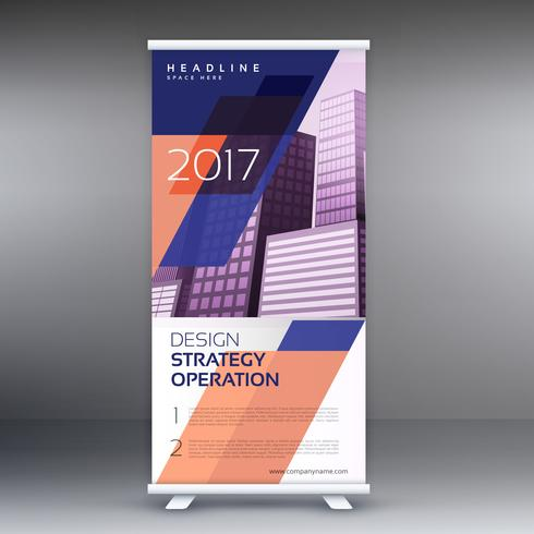 abstract roll up banner or standee vector design