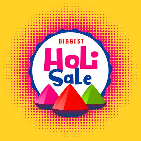happy holi sale with colors elements