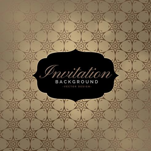 beautiful invitation background with pattern design