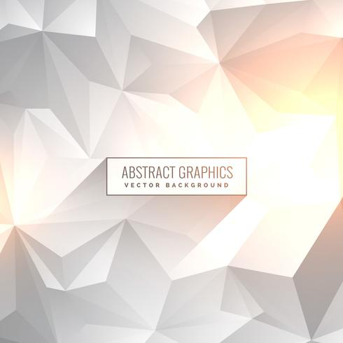abstract clean gray white backgorund in low poly style