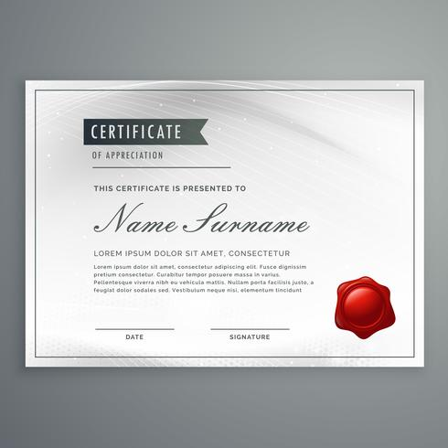 certificate of appreciation template design in modern clean styl
