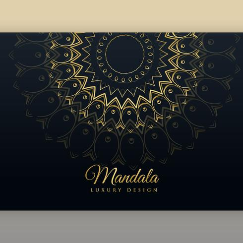 black luxury golden mandala poster design