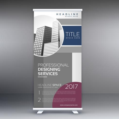 professional roll up standee banner design concept for business