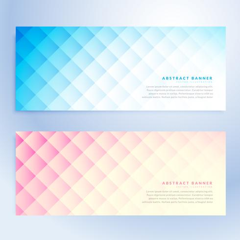 set of abstract geometric banners in two different colors
