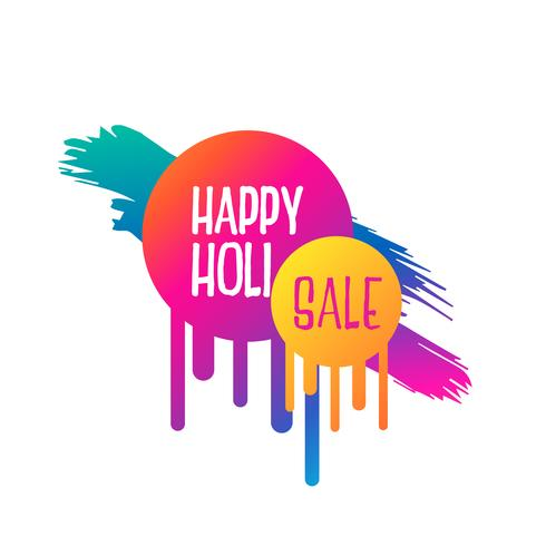 abstract happy holi sale banner design