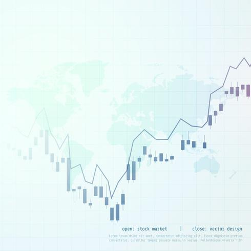 stock market business candle stick graph display background