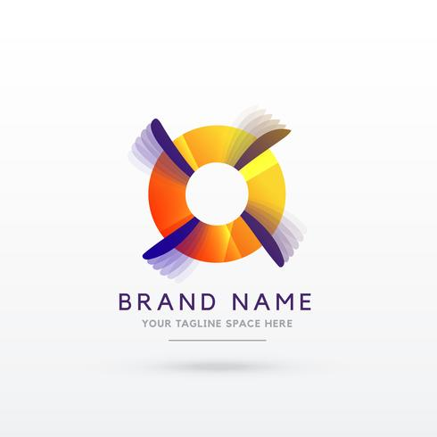abstract logo concept design vector