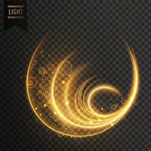 golen magic vector light effect