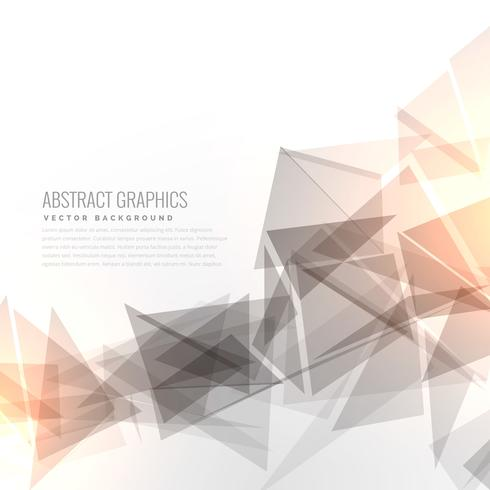abstract gray geometric triangles shape with light effect