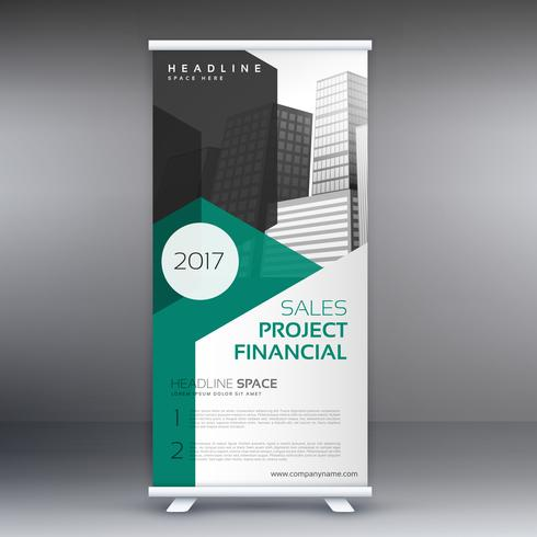 stylish roll up banner in modern style template