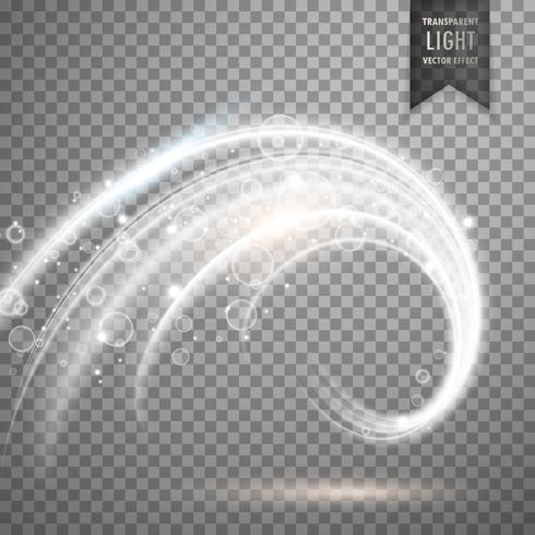 transparant wit licht effect vector
