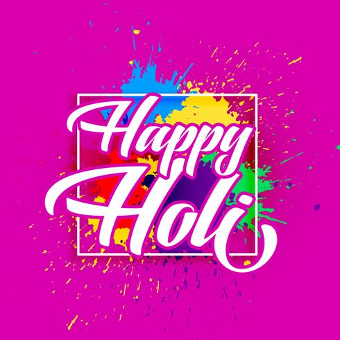 happy holi festival of colors greeting design