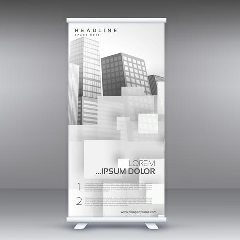 white roll up standee banner vector design for your business pre