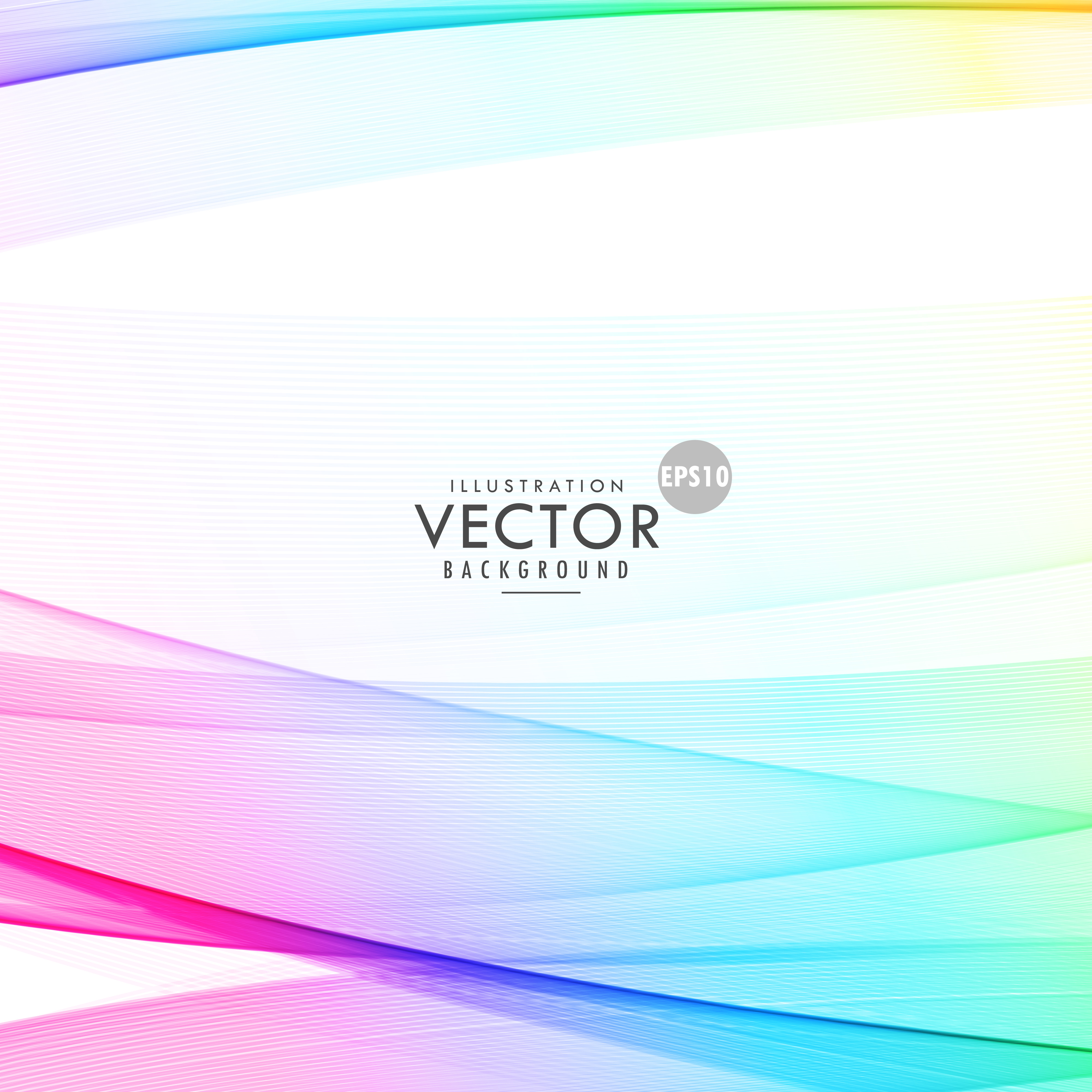 Elegant Colorful Wave On White Background For Presentation