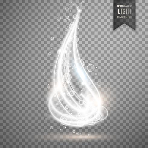 transparent glowing light vector background