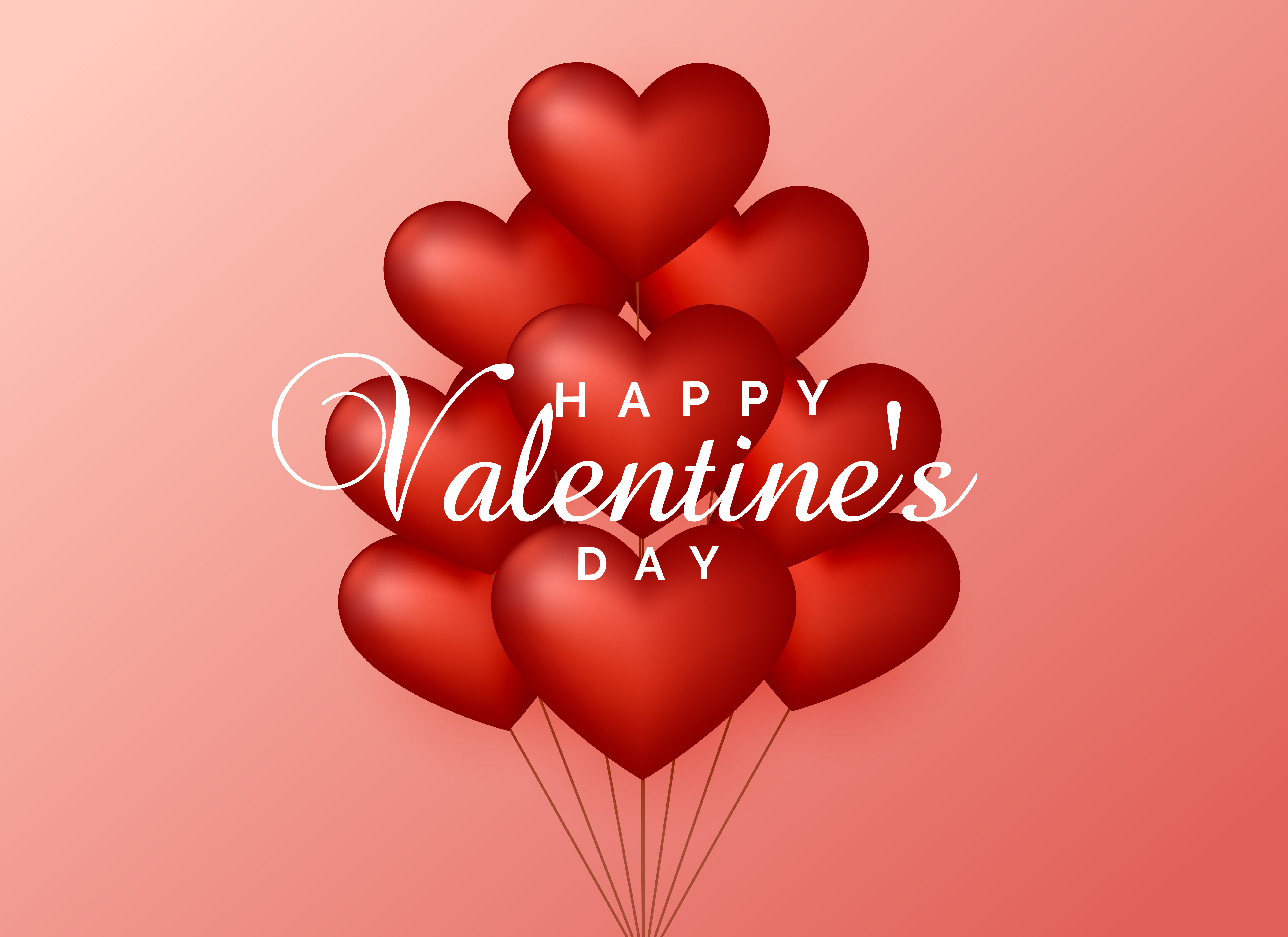 heart balloons on pink background for valentine u0026 39 s day