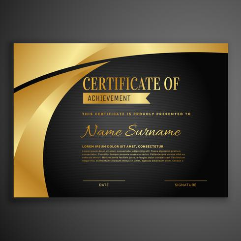luxury dark certificate design template