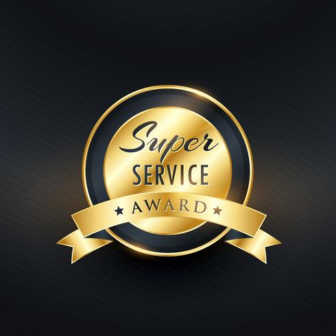 service award label design vector